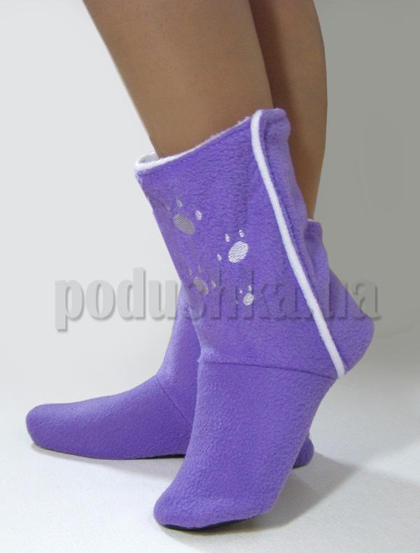 Тапочки Лапки нежно-фиолетовые