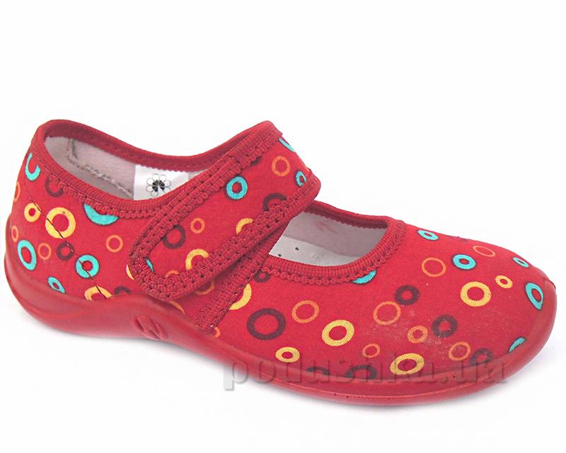 Тапочки-сандалики NIKI Floare 2013460233 красные