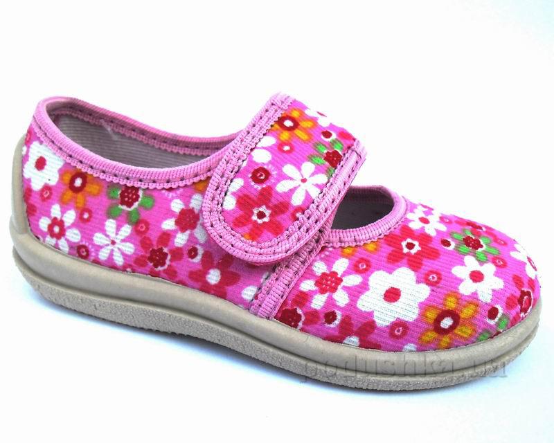 Тапочки-туфельки для девочек Floare 1270380100 розовые