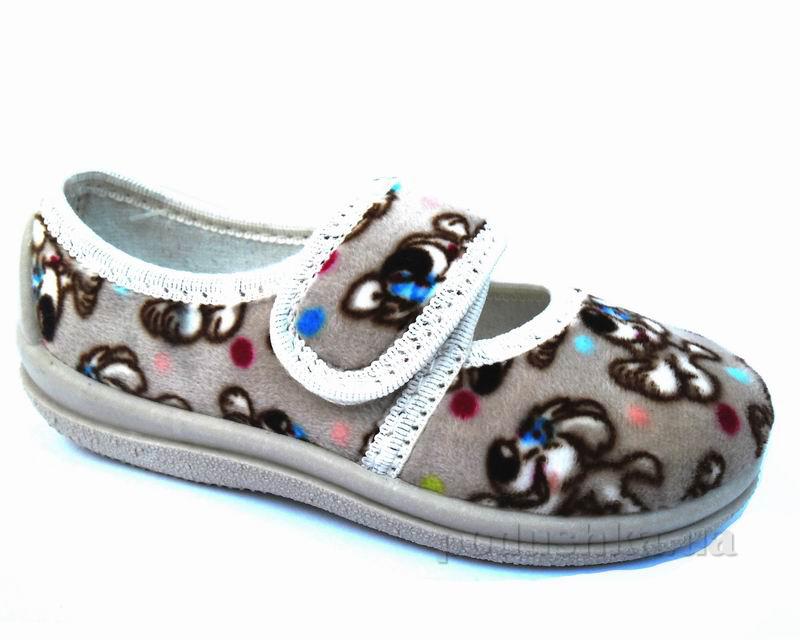 Тапочки-туфельки Малыш Floare 1270103900 серые