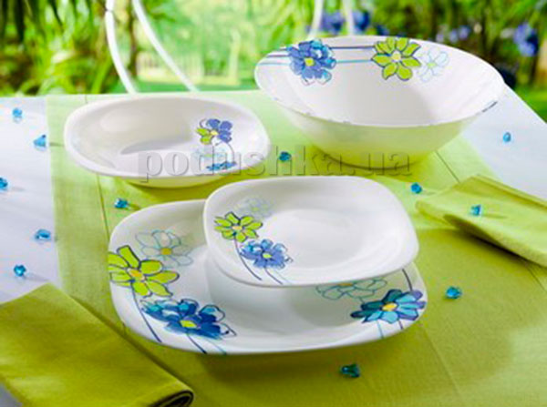 Тарелка для супа Luminarc Fresh Garden синяя H8636