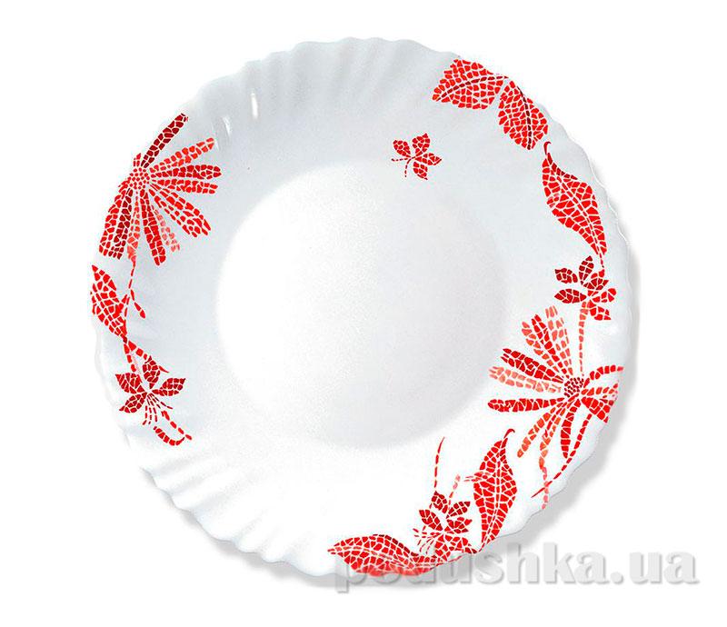 Тарелка для супа Luminarc Romancia Red H2402