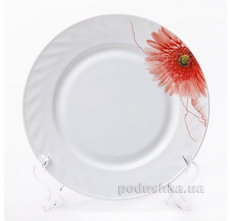 Тарелка обеденная Красная Гербера Maestro MR 31058-04