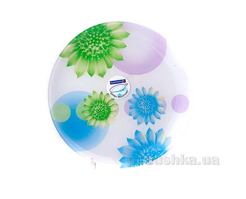 Тарелка обеденная Luminarc Flowers Dream Blue G1123