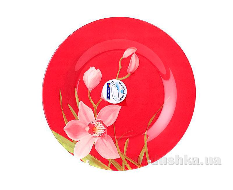 Тарелка обеденная Luminarc Red Orchis J1355