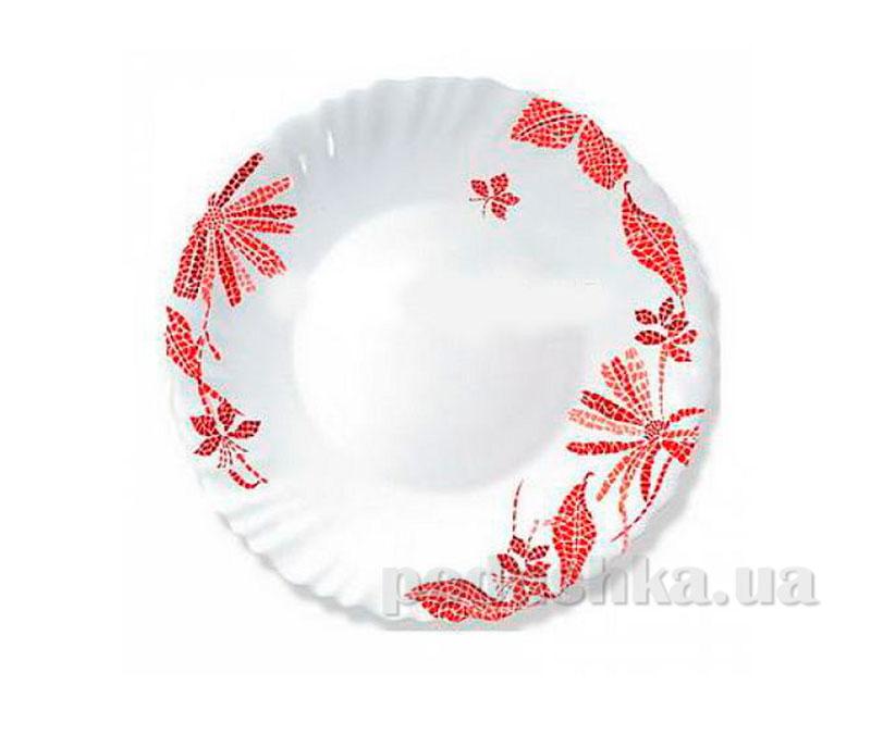 Тарелка обеденная Luminarc Romancia Red H2393