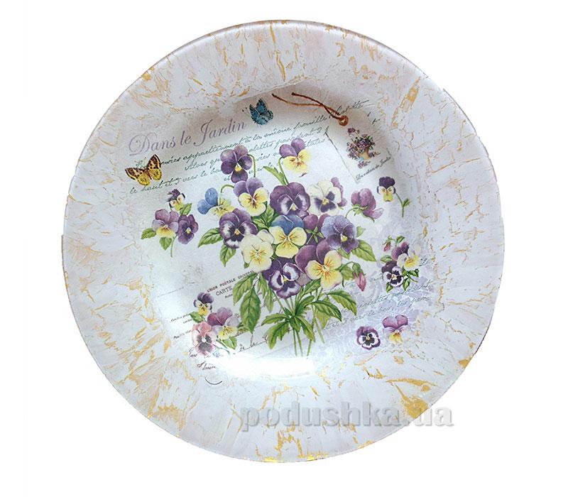 Тарелка Летние цветы - ручная роспись