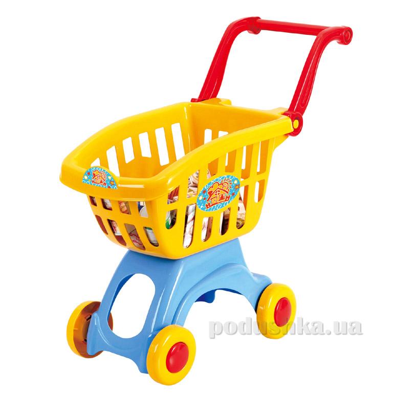 Тележка для супермаркета с набором продуктов PlayGo