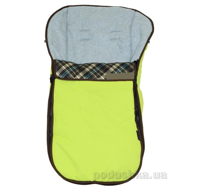 Теплый конверт для коляски Capella Green Check ut-72808