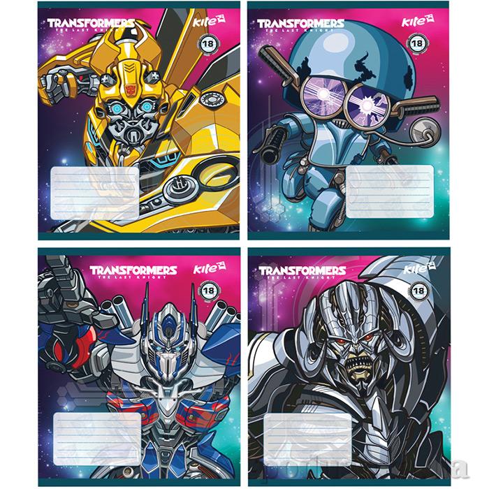 Тетрадь Transformers 18 листов линейка Kite TF17-237
