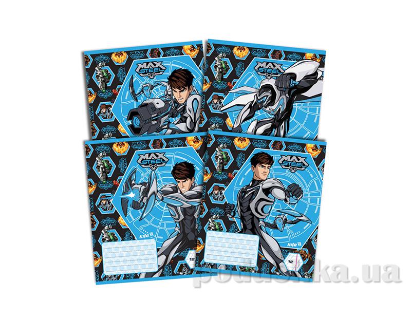 Тетрадь в косую линию Kite Max Steel MX14-235K