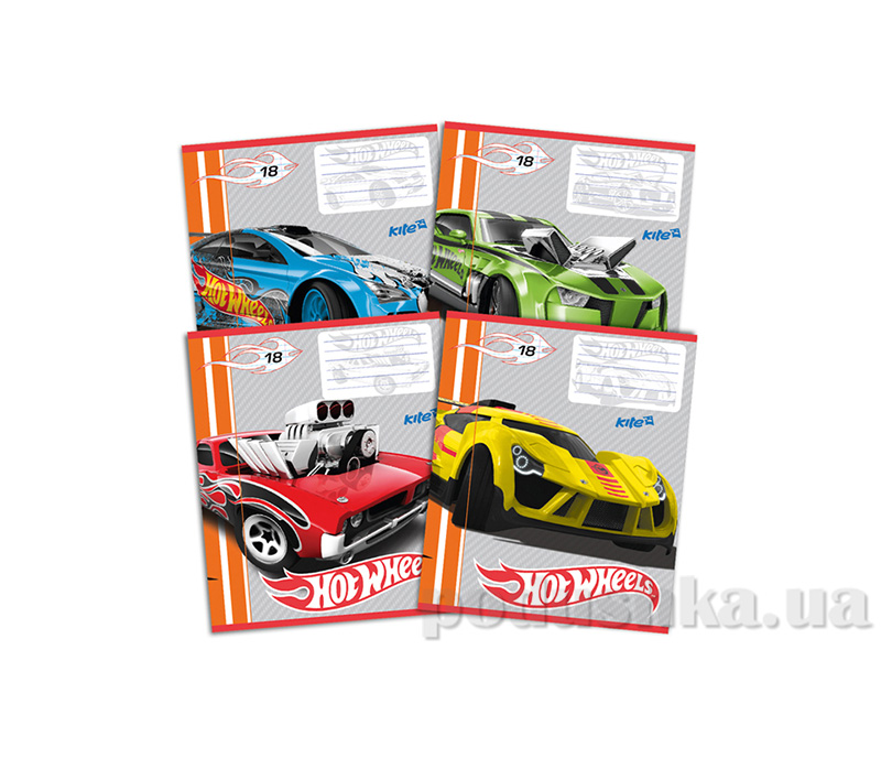 Тетрадь в линию Kite Hot Wheels HW14-237K