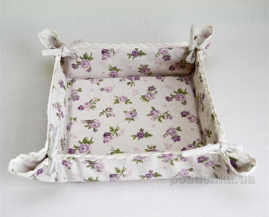 Тканевая хлебница Прованс Lilac rose П16549-M301X