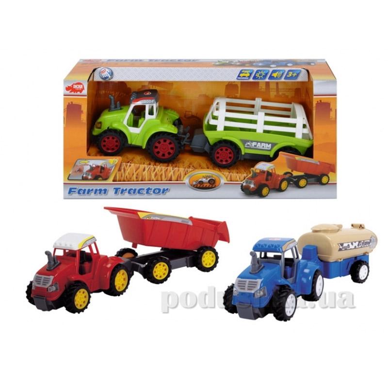 Трактор Фермер с прицепом Dickie 347 3036