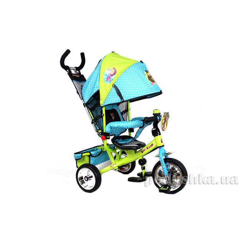 Трехколесный велосипед Bambi Маша и Медведь MM 0156-01 Зелено-голубой