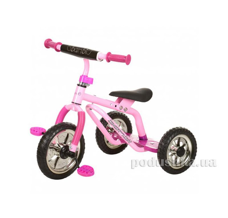 Трехколесный велосипед Profi Trike M 0688-2 Малиновый