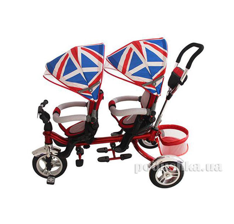 Трехколесный велосипед Turbo Trike Twins Красный M 3116TW-2A