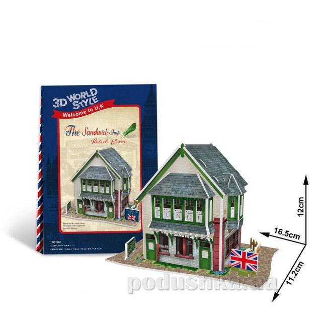 Трехмерная головоломка-конструктор CubicFun Англия - Сэндвич шоп