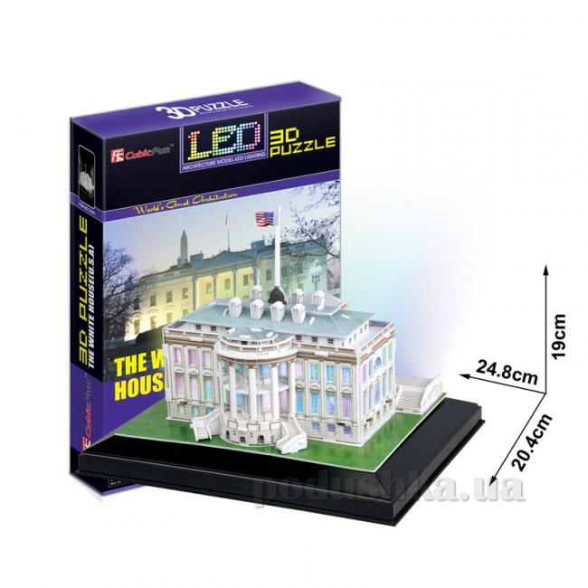 Трехмерная головоломка-конструктор CubicFun Белый дом LED