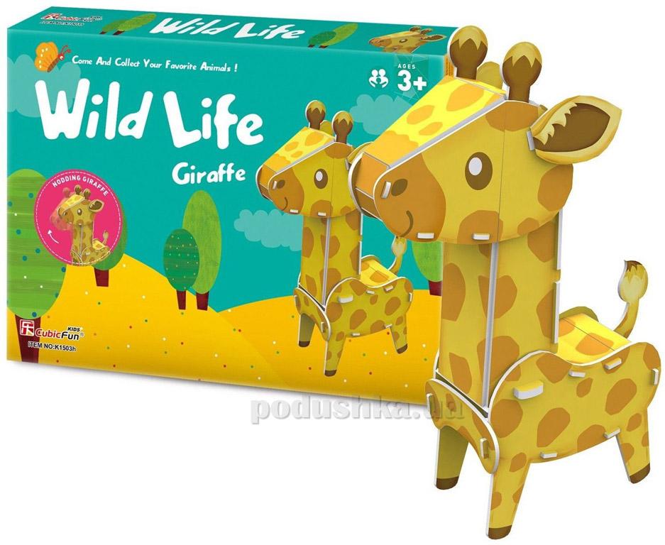 Трехмерная головоломка-конструктор CubicFun Дикие животные - Жираф