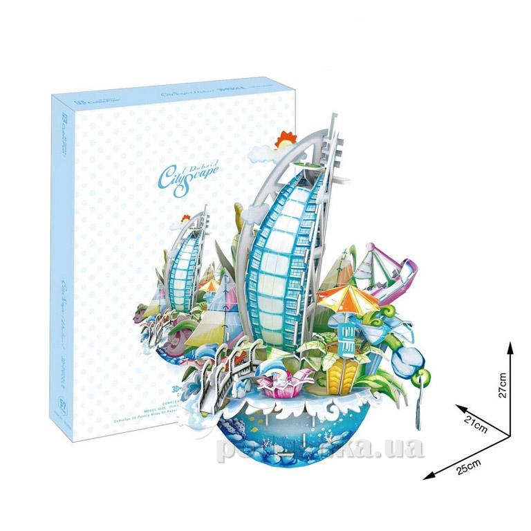 Трехмерная головоломка-конструктор CubicFun Городской пейзаж - Дубай   CubicFun