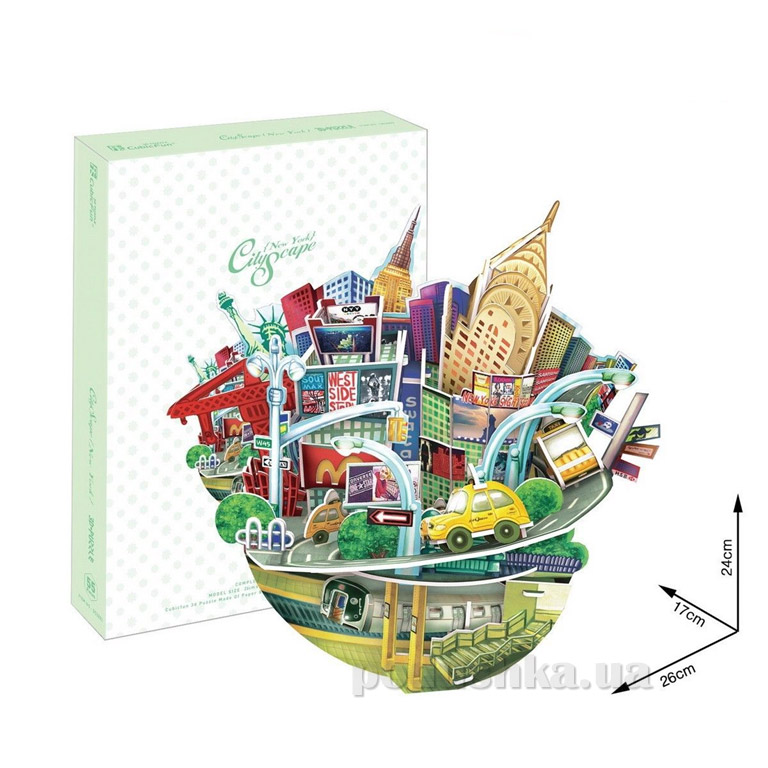 Трехмерная головоломка-конструктор CubicFun Городской пейзаж - Нью-Йорк
