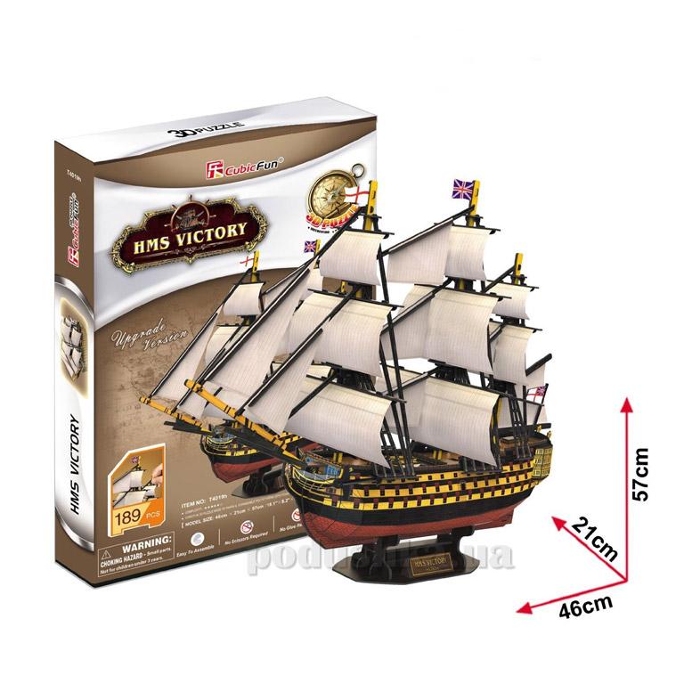 Трехмерная головоломка-конструктор CubicFun HMS Victory