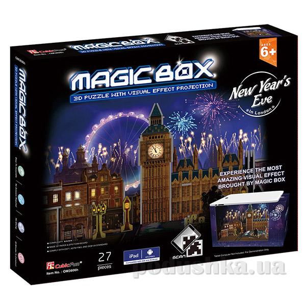 Трехмерная головоломка-конструктор CubicFun Магическая коробка - Новый год в Лондоне