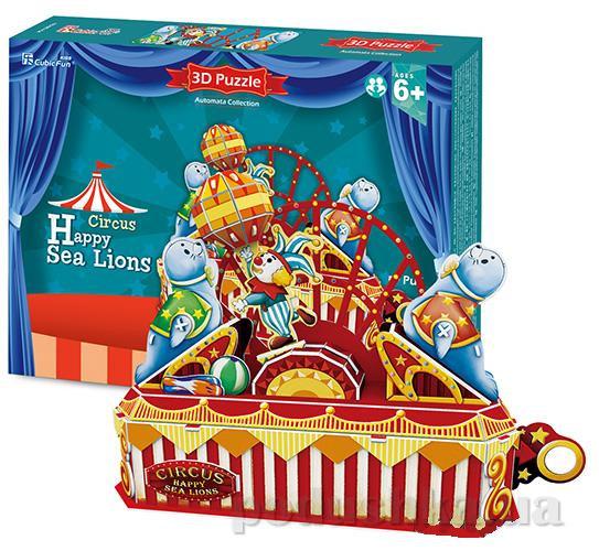 Трехмерная головоломка-конструктор CubicFun Цирк - Веселый морской лев