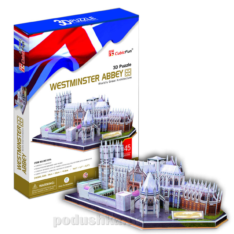 Трехмерная головоломка-конструктор CubicFun Вестминстерское аббатство