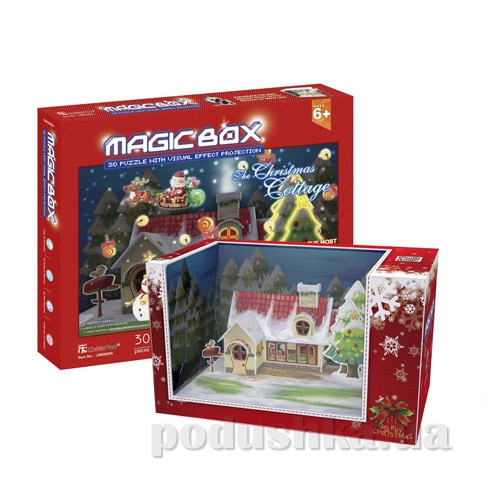 Трехмерная головоломка-конструктор CubicFun Волшебная коробка - Рождественский коттедж