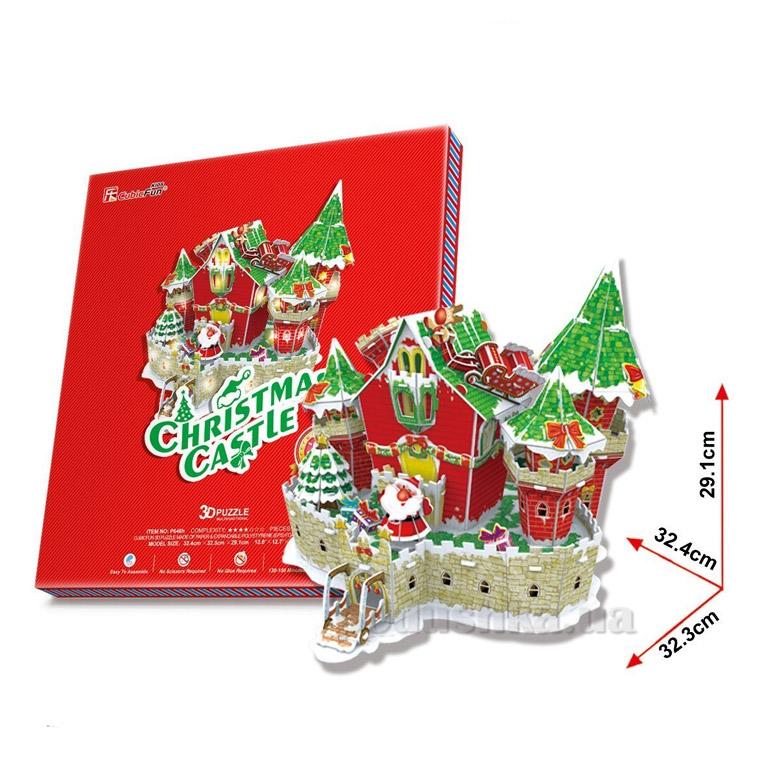Трехмерная головоломка-конструктор CubicFun Волшебный рождественский замок LED