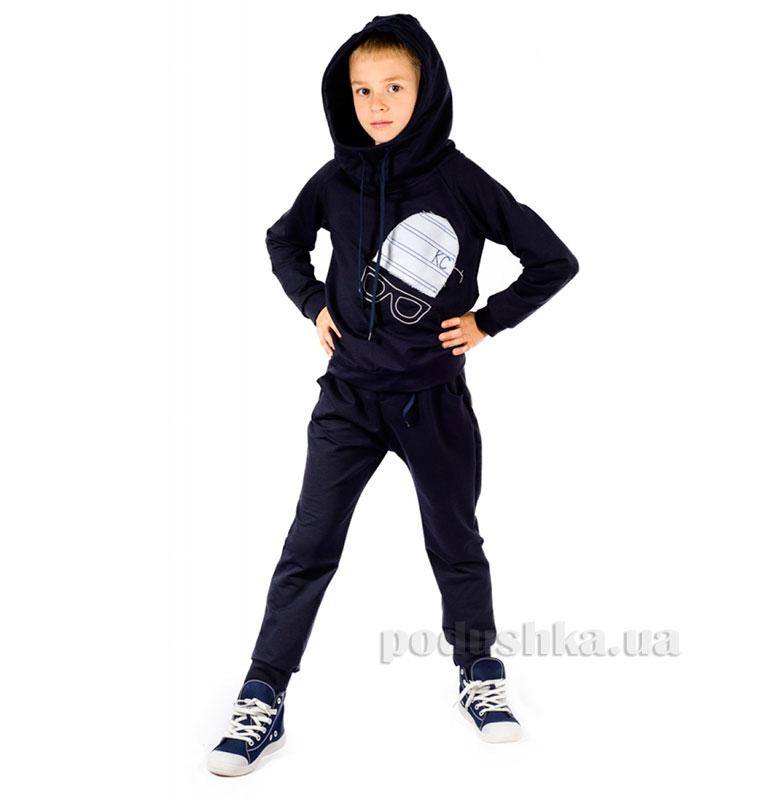 Трикотажный спортивный костюм Шапка Kids Couture темно-синий