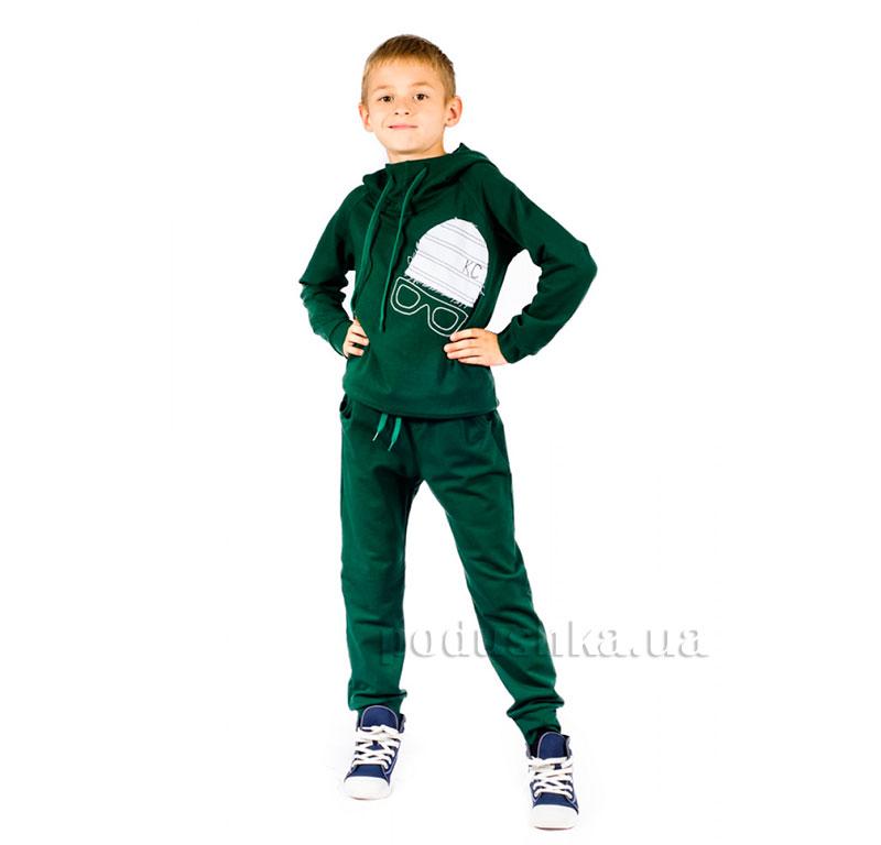 Трикотажный спортивный костюм Шапка Kids Couture зеленый