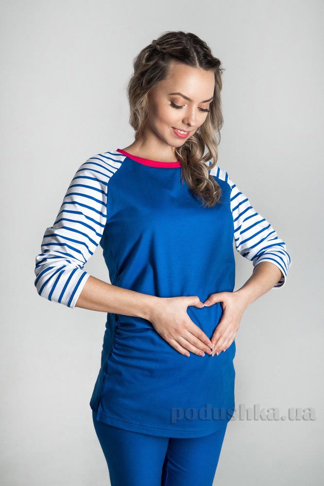 Туника для беременных MiMi 15004 синяя