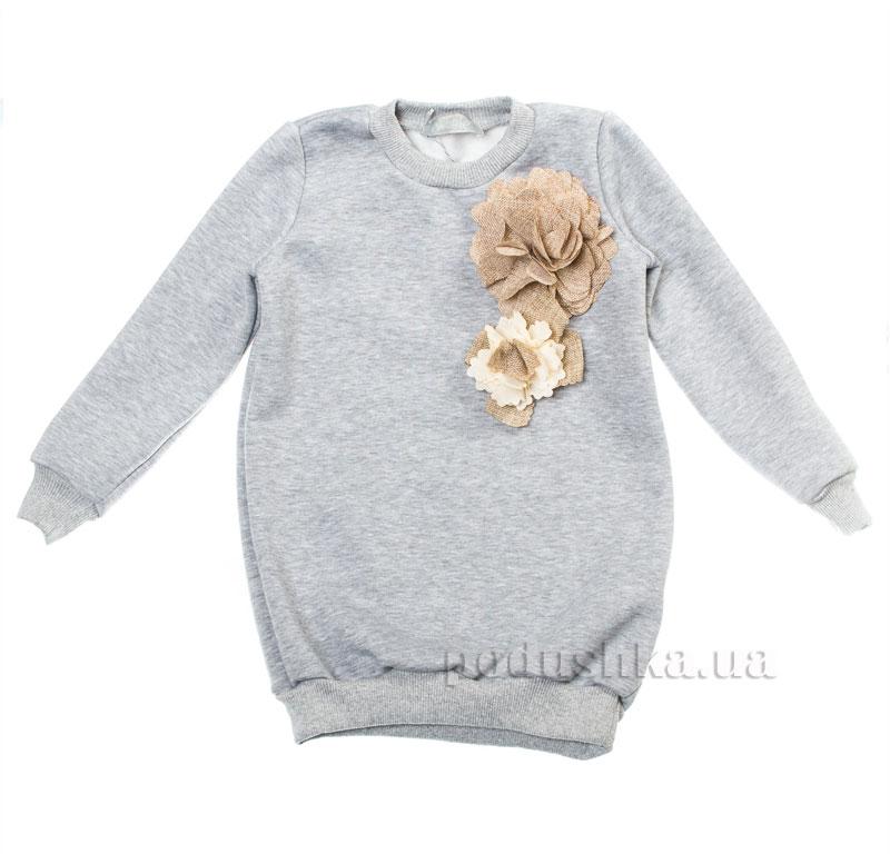 Туника Цветок Kids Couture 16-16 серая