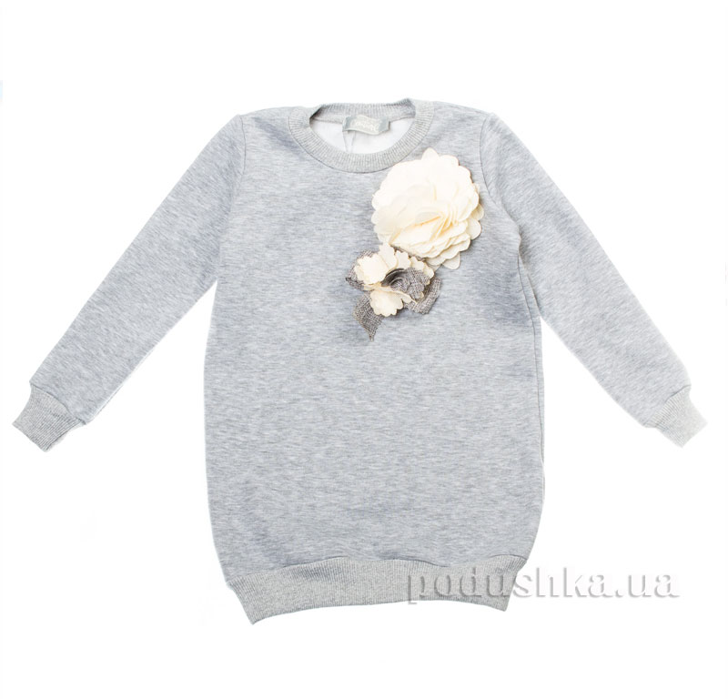 Туника Цветы Kids Couture 16-16 серая