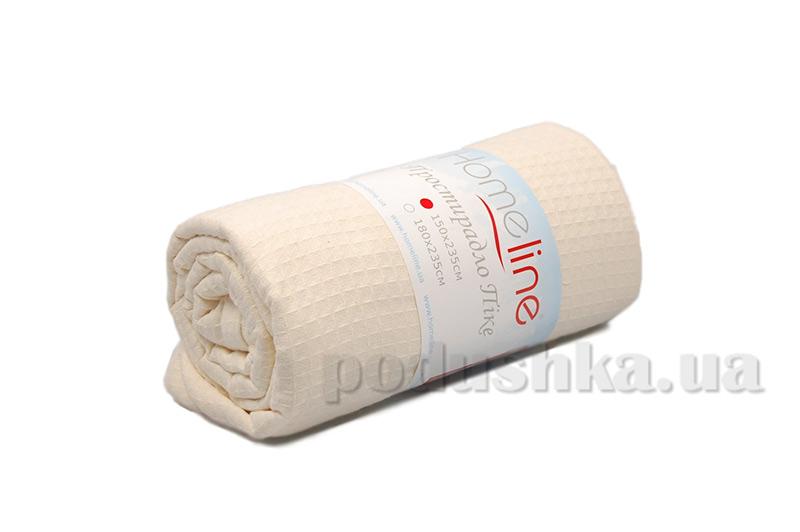 Вафельная простынь средней плотности Home Line кремовая