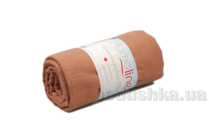 Вафельная простынь средней плотности Home Line светло-коричневая