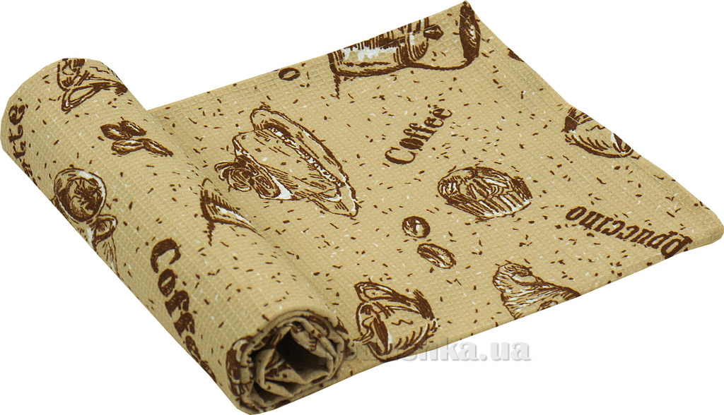 Вафельное кухонное полотенце Руно Круассаны 45х80 см  Руно