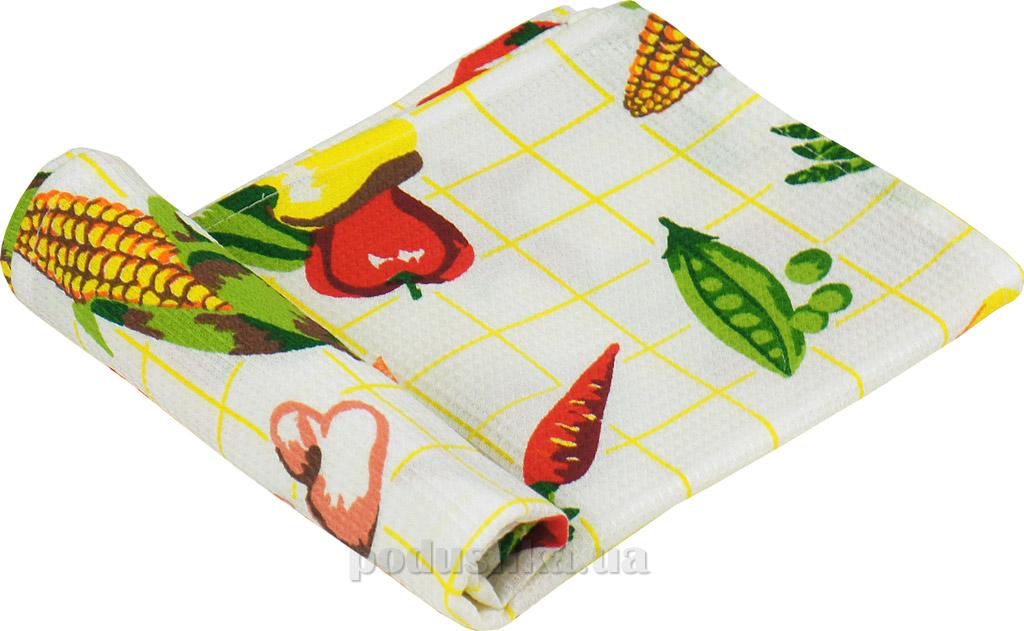 Вафельное кухонное полотенце Руно Овощи