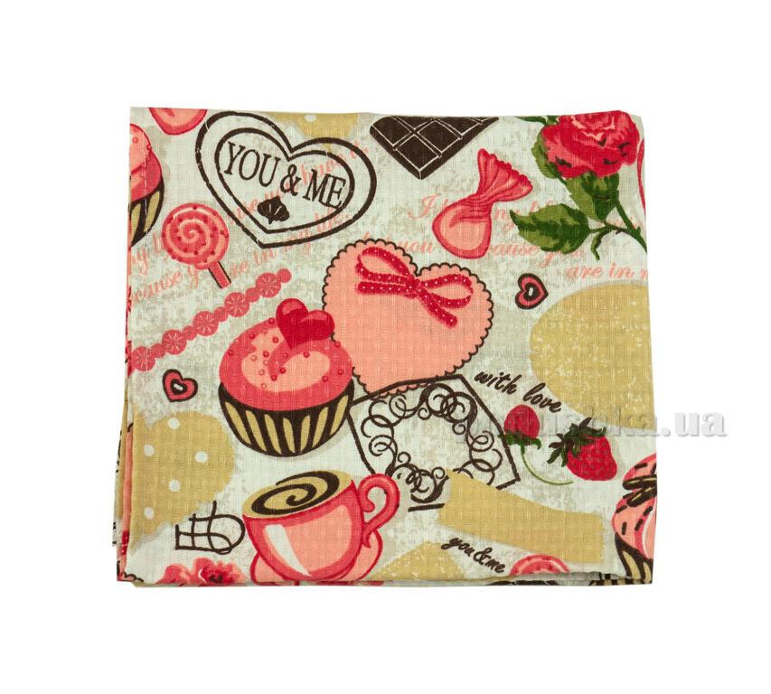 Вафельное кухонное полотенце Руно Пироженки