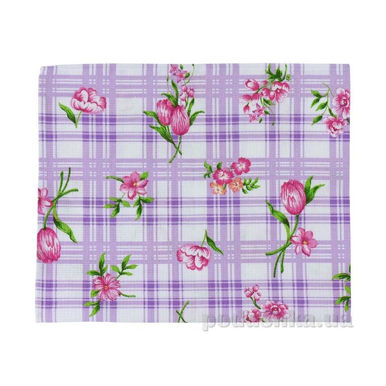 Вафельное кухонное полотенце Руно Сиреневый тюльпан