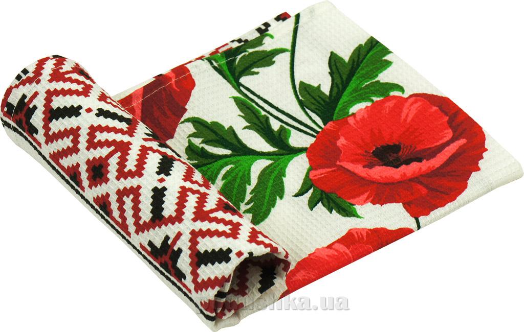 Вафельное кухонное полотенце Руно Вышиванка