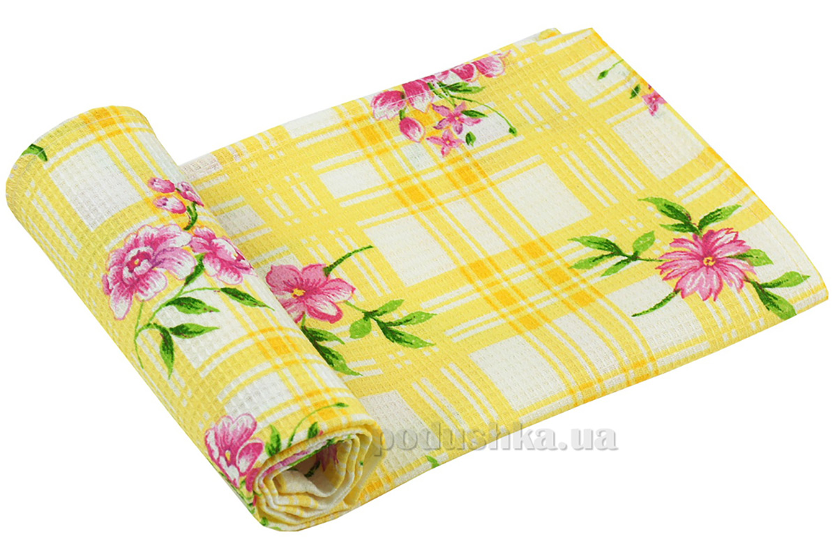 Вафельное кухонное полотенце Руно Желтый тюльпан 45х80 см  Руно