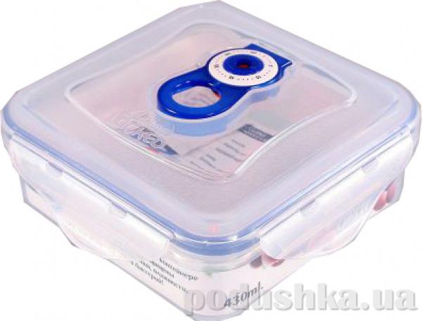 Вакуумный контейнер для хранения продуктов Gipfel 136x136x56мм (пластик) 430 мл