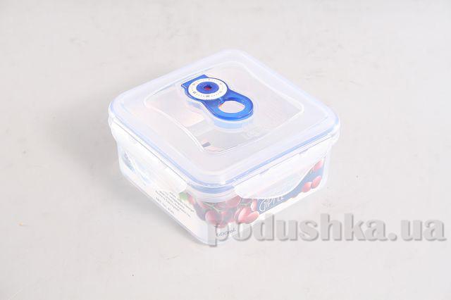 Вакуумный контейнер для хранения продуктов Gipfel 136x136x71мм (пластик) 600 мл