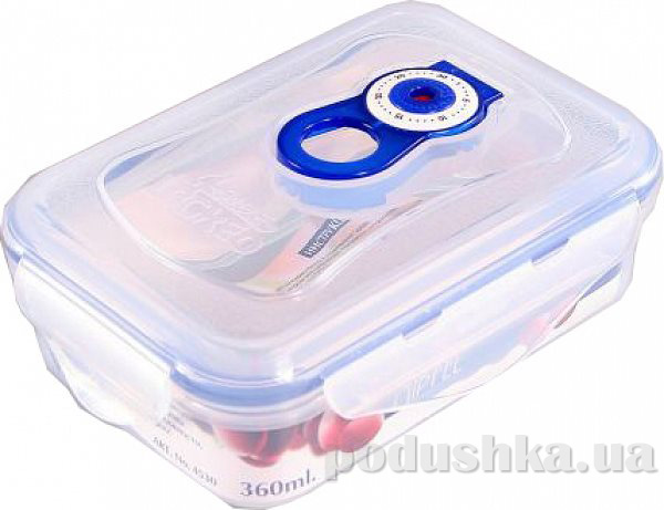Вакуумный контейнер для хранения продуктов Gipfel 151x108x54мм (пластик) 360 мл