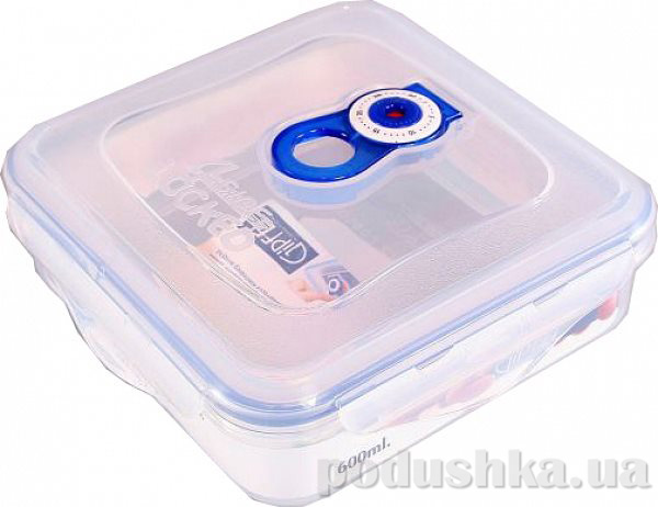 Вакуумный контейнер для хранения продуктов Gipfel 158x158x55мм (пластик) 600 мл   Gipfel