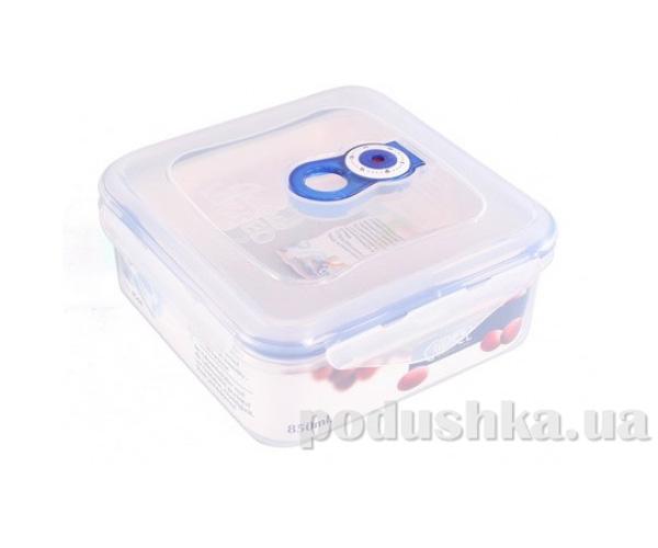 Вакуумный контейнер для хранения продуктов Gipfel 158x158x70мм (пластик) 850 мл